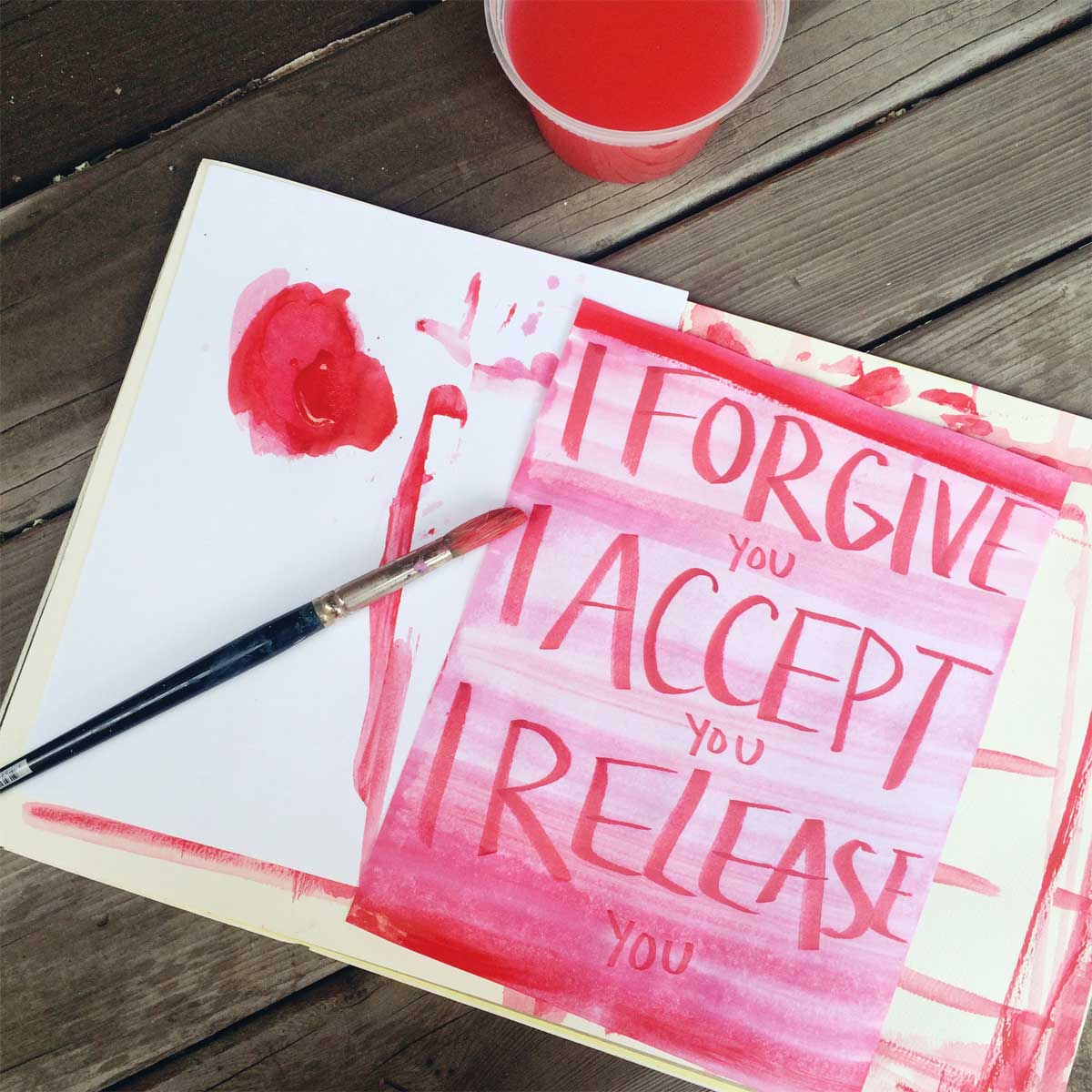 forgiveness, acceptance, and release